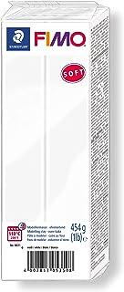 STAEDTLER 8021-0. Pasta para modelar de Color Blanco Fimo Soft. Caja con 1 Pastilla de 454 Gramos.