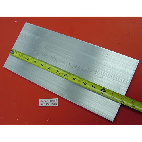 """1//4/"""" X 6/"""" ALUMINUM 6061 SOLID FLAT BAR 8/"""" long T6511 Extruded Plate Mill Stock"""