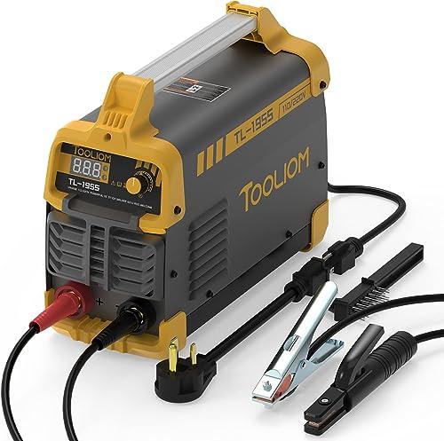 discount TOOLIOM 195A 110/220V 2021 Stick Welder ARC Welding Machine DC Inverter Welder Dual Voltage online sale MMA Welder Digital Display online