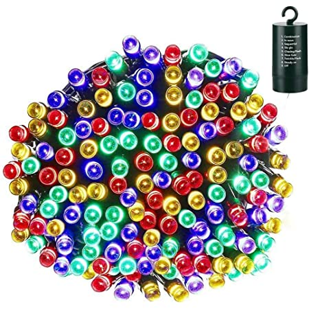 Lyhope Christmas Lights, 200 LED 72ft 8 Modes Battery Operated Waterproof Fairy Christmas String Lights for Outdoor & Indoor, Patio, Lawn, Landscape, Garden, Xmas Tree, Holiday Decor (Multi-Color)