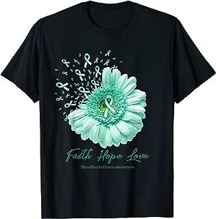 Faith Hope Love MYASTHENIA GRAVIS Awareness Flower Ribbon