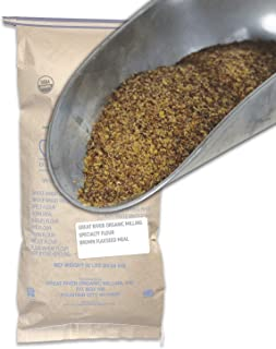 Great River Organic Milling, Specialty Flour, Brown Flaxseed Meal, Organic, 50-Pounds (Pack of 1)