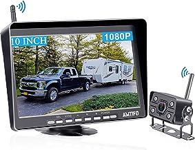 $199 » AMTIFO A11 HD 1080P RV Wireless Backup Camera 10 Inch Monitor Split/Quad Screen for Trailers,5th Wheels,Trucks Highway Rea...