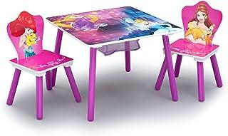 طقم كرسي وطاولة للاطفال من دلتا (2 كرسي) بتصميم اميرة ديزني