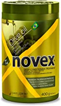 Novex Olive Oil Deep Conditioning Hair Mask (14oz) Conditioning Treatment for Rebuilding, Moisturizing and Protecting Weak, Dry and Brittle Hair Using Natural Olive Oil