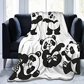 Hoswee Couvertures et Plaids Panda Art Super Soft Cozy Micro Plush Velvet Fleece Blanket Warm Premium Couch Throw Blanket Luxurious