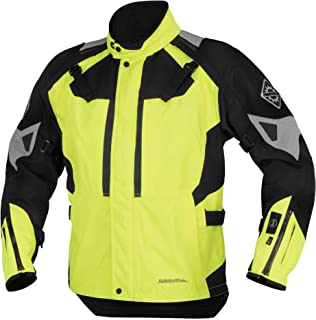 Firstgear 37.5 Kilimanjaro Textile Womens Jacket, Distinct Name: DayGlo/Black, Gender: Womens, Primary Color: Yellow, Size: XL, Apparel Material: Textile