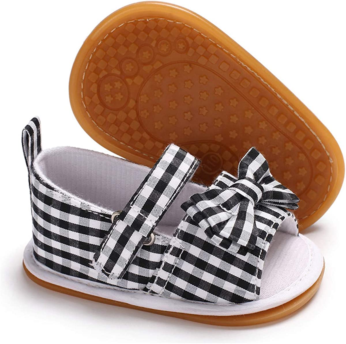 Max 76% OFF ENERCAKE Infant Baby Ranking TOP15 Girls Sandals Rubber Summ Soft Sole Bowknot