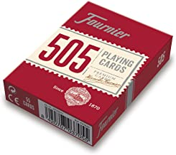 Fournier- Nº 505 Baraja Cartas Poker Clásica, Color Rojo o