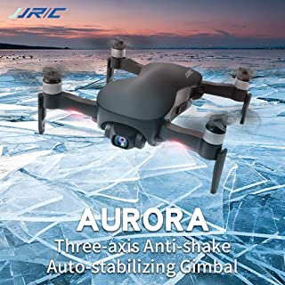 DragonPad JJRC X12 GPS Drone 5G WiFi FPV Brushless Motor 1080P HD Camera GPS Dual Mode Positioning Foldable RC Drone Quadcopter RTF for Kids Adults Gift Black