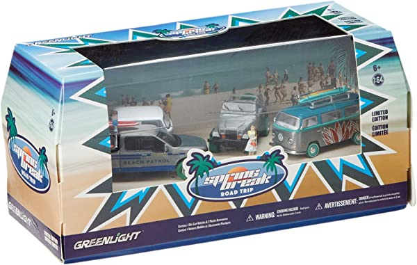Greenlight Multi Car Diorama Spring Break Road Trip Die Cast Vehicles Color And Styles May Vary