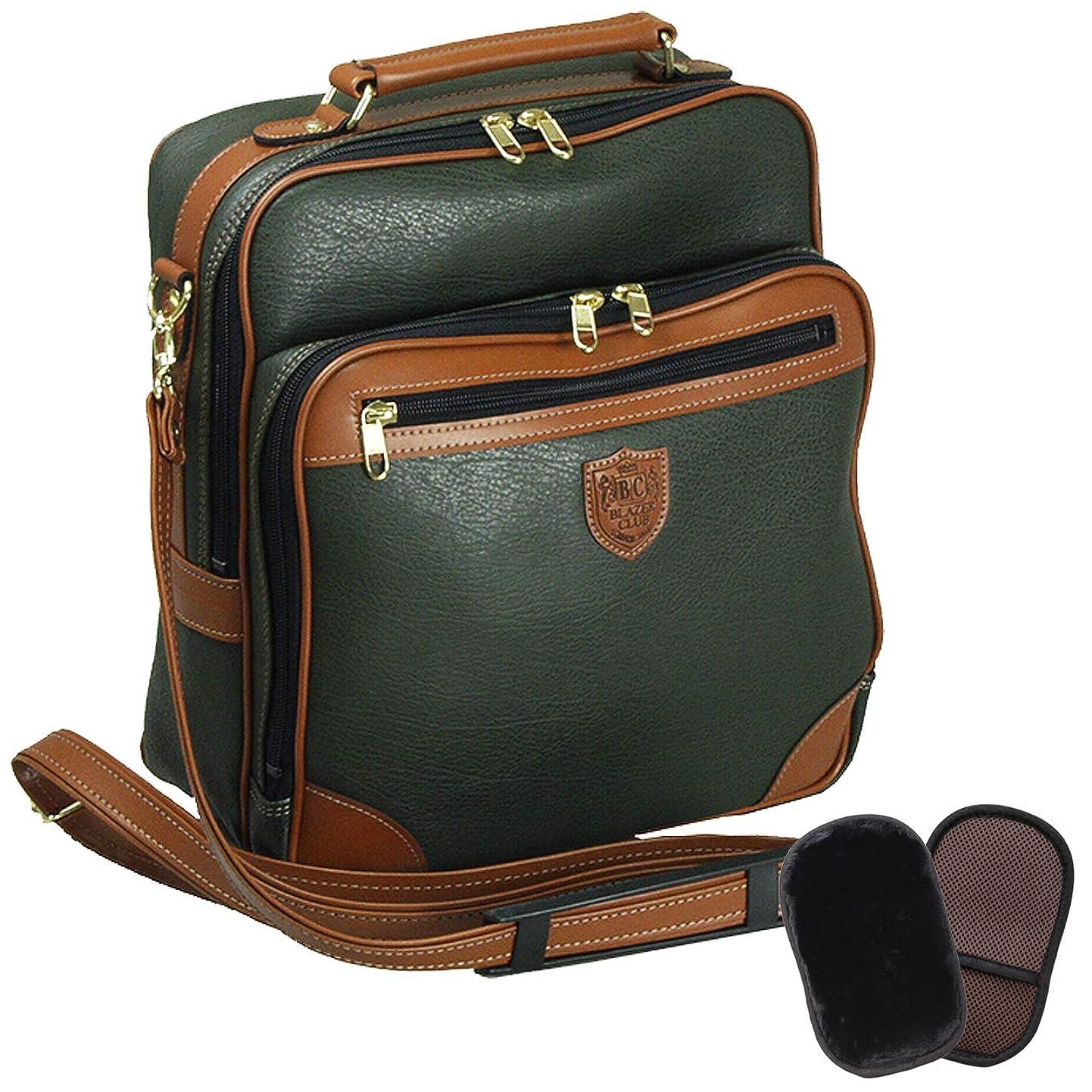 自分を引き上げるメタリック処理する国産 ショルダーバッグ メンズ 斜めがけ 縦型 旅行 ビジネス A4 27cm +ムートングローブ
