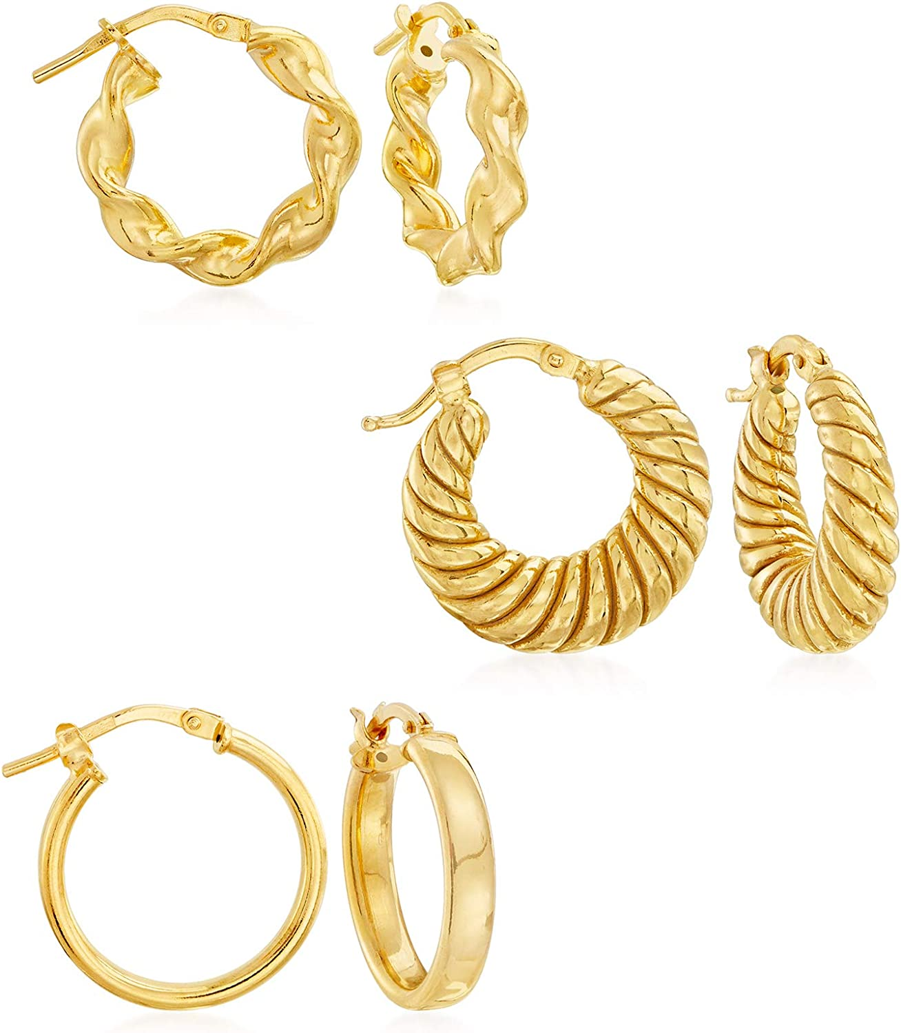 Ross-Simons Italian 18kt Gold Over 3 Jewelry Set: Popular Sterling Sale Pairs