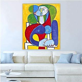 pujiaoshang Pablo Picasso 《Buste de Françoise》 Toile Art Peinture à l'huile oeuvre décorative Photo décoration murale-50x7...