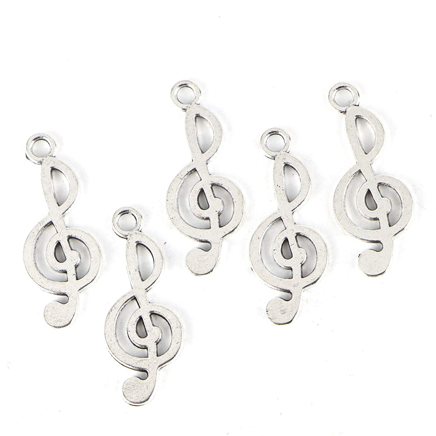 Monrocco 300PCS Music Notes Charm, Alloy Musical Notation Symbol Charm Pendant for DIY Jewelry Making Necklaces Bracelets Earring
