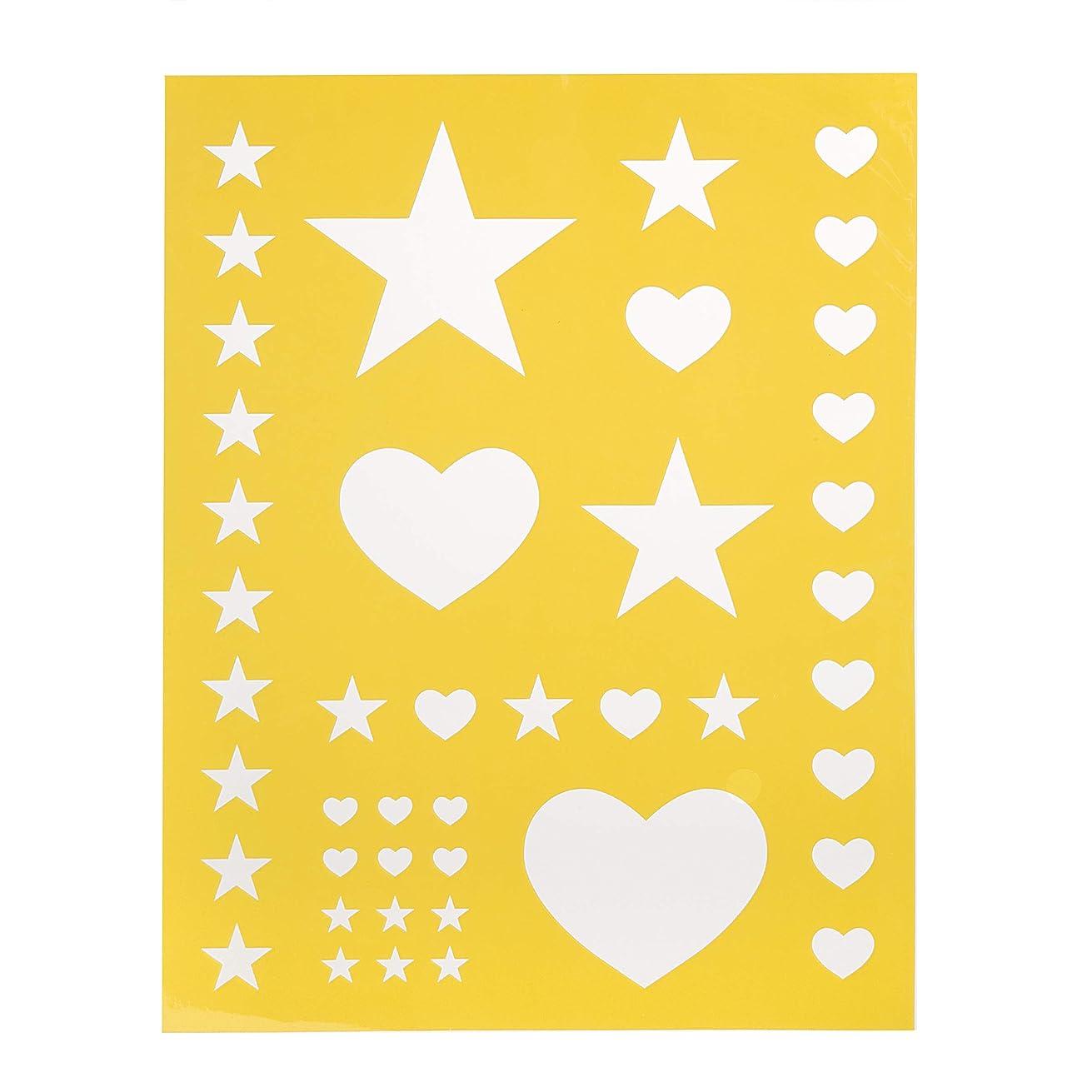 Darice 30018426 8.5X11 Stencil Heart Stars