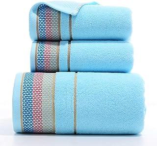 Juego de toallas de baño de 3 piezas, toallas de baño súper suaves de algodón peinado, absorbentes toallas de baño cara ex...