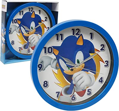 """Accutime Watch Corp Sonic The Hedgehog Frame Wall Clock Nice for Gift or Office Home Wall Decor 9.5"""""""