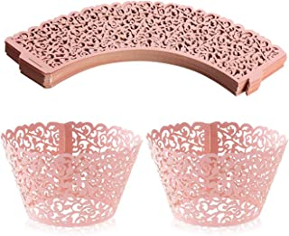 Cupcake Wrappers Lace Cupcake Liners Laser Cut Cupcake Papers Cupcake Cups Cases for Wedding/Birthday Party Decoration (10...