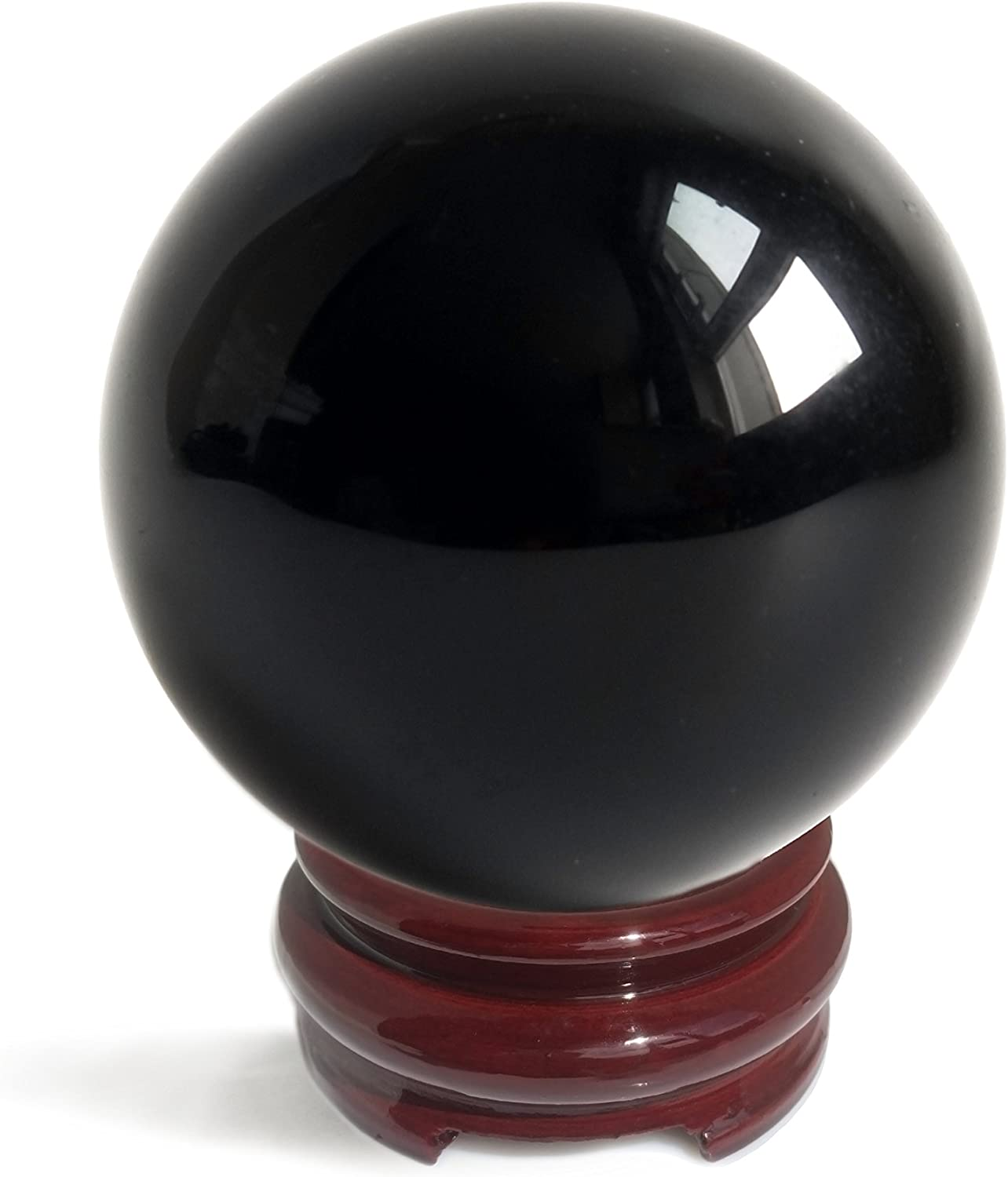 Mina Heal Obsidian Crystal Ball 110 mm   4.3  for Fengshui Ball, Scrying Meditation, Crystal Healing, Divination Sphere, Home Decoration, 100% Natural and Genuine