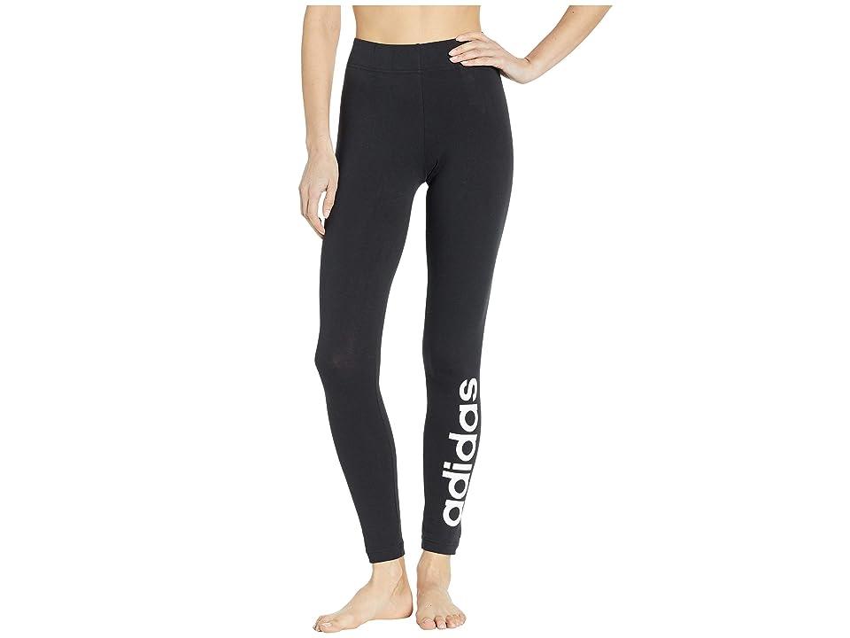 46a1a3679a35b adidas Essentials Linear Tights (Black/White) Women's Casual Pants