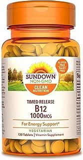 Sundown Vitamin B-12 1000 mcg, 120 Time Release Tablets(Pack of 1)