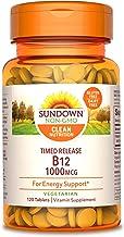 Sundown Vitamin B-12, Energy Support, Vegetarian, Vegan-Friendly 1000 mcg, ) Non-GMO, Free of Gluten, Dairy, Artificial Fl...