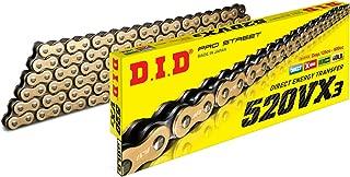 D.I.D 520VX3GB-120 DID 520VX3 Gold X-Ring Chain 120 Link