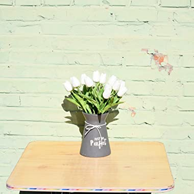 Mandy's 20pcs White Artificial Latex Tulips for Party Home Wedding Decoration