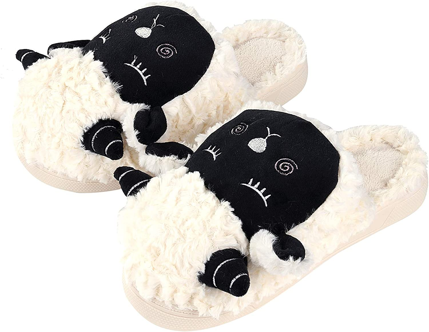 Beslip Women's Comfort Memory Foam Slippers Anti - Skip Indoor Outdoor House shoes Winter Warm Fuzzy Clog House Slippers