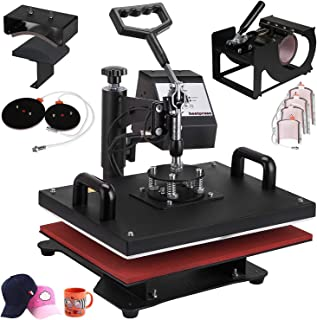 VEVOR Heat Press 12X15 Inch Heat Press Machine 9 in 1 Professional Multifunctional Sublimation Swing Away Heat Press 360 Degree Rotation Heat Press Machine for T Shirts Hat Mug Cap Plate