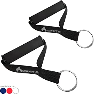 Ignite Fitness Ultra Heavy Duty Elite Exercise Handles with Solid ABS Cores, Comfortable Extra Wide Foam Grips, Seamless O Rings - Perfect Resistance Band Handles for Crossfit and Bodybuilding