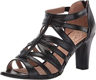 LifeStride Women's Carter Heeled Sandal, Black, 6.5 W US
