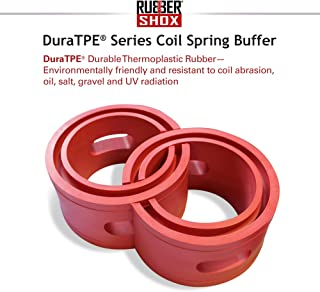 """U.S. RubberShox DuraTPE Series Front-Rear Car Coil Spring Buffer Cushion/Automotive Suspension Shock Absorber Performance Booster Kit Universal Type A-F Vehicle Auto Parts (CSB, B)2.36"""" x 6.77"""" (TD)"""