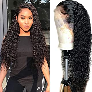 Nadula Brazilian Water Wave Human Hair 13×4 Lace Front Wigs For Women 100% Unprocessed Virgin Wavy Human Hair Wig 130% Density With Baby Hair (22inch, Natural Color)