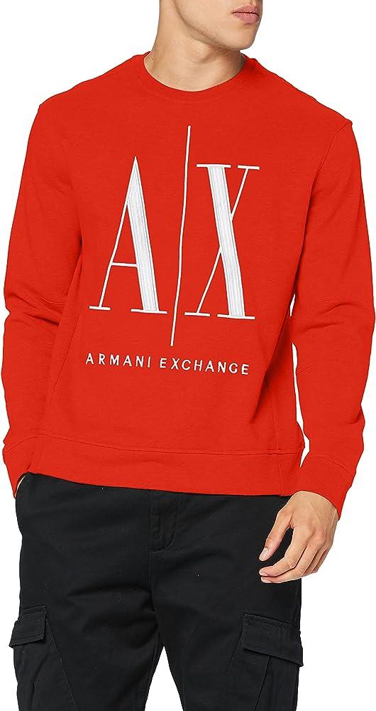 Armani exchange icon project felpa da uomo in cotone al 100 % 8NZMPAZJ1ZZ