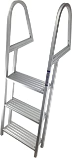 Pactrade Marine Pontoon Boat Aluminum 3 Step Heavy Duty Removable Dock Ladder