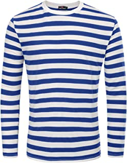 8e54a6a0a9f47 PAUL JONES Men s Basic Striped T-Shirt Crew Neck Cotton Shirt