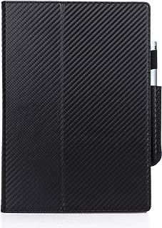 Feitenn Case for Remarkable Paper Tablet Case, Sleep/Wake e-Book Notepad Stylus Pen Holder Cover Hand Strap Carbon Fiber Texture Stand Protective Bumper Remarkable Paper Tablet 10.3 2018- Black