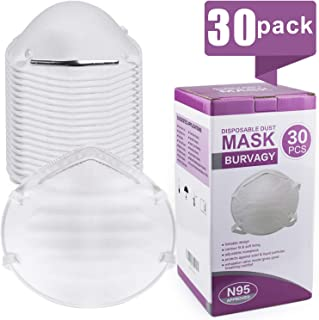 N95 Disposable Dust Masks, NIOSH-Certified Particulate Respirator For Construction, Emergency Kits, DIY, Home Use, Woodworking & more(30 Pack)