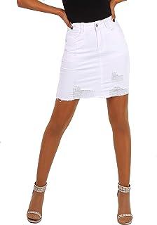 444bc7bc7 Amazon.es: falda vaquera - Blanco