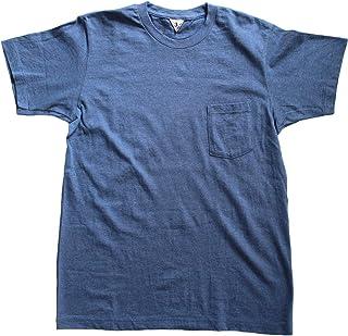 FilMelange(フィルメランジェ) ポケットTシャツ SUNNYサニー メンズポケットTシャツ ニューリンダ天竺Tシャツ DENIM BLUE MELANGE