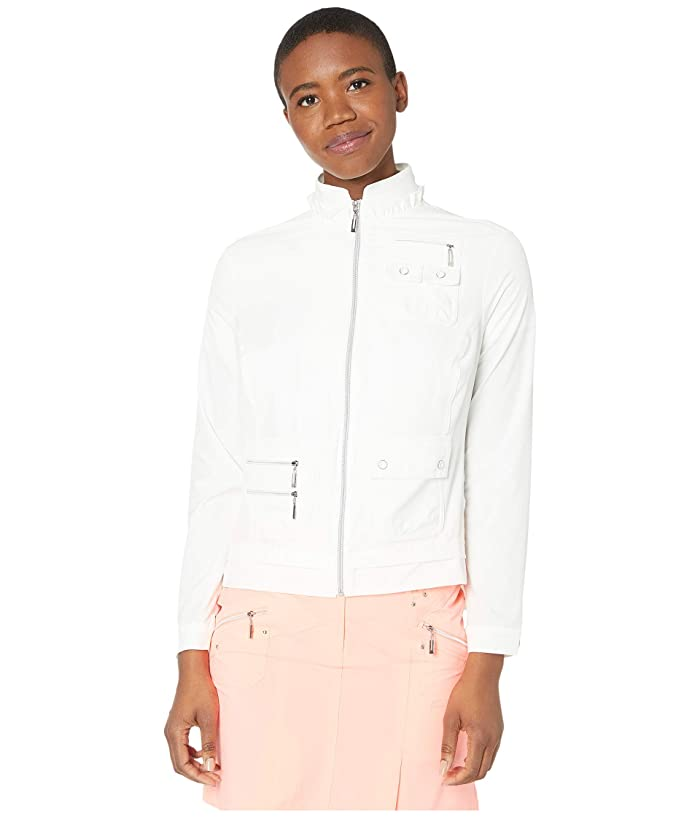 Jamie Sadock Airwear Lightweight Jacket (Sugar White) Women's Jacket