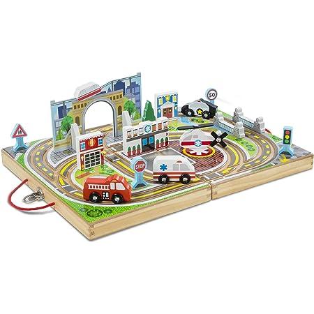 メリッサ&ダグ(Melissa&Doug)木製レールおもちゃ はたらくくるま 30141 正規品