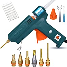 Full Size Hot Glue Gun, 150 Watts with 6 Copper Nozzles Temperature Adjustable Craft Repair Tool Professional Melting Glue...
