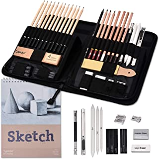 Sketching Drawing Set,41pcs Professional Artist Kit with Sketchbook,Complete Sketching,Charcoal Pencils and Tools,Ideal fo...