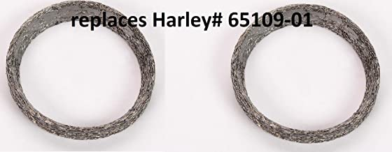 Orange Cycle Parts V-ROD Tapered Exhaust Port Gasket Pair (2) replaces OEM# 65109-01