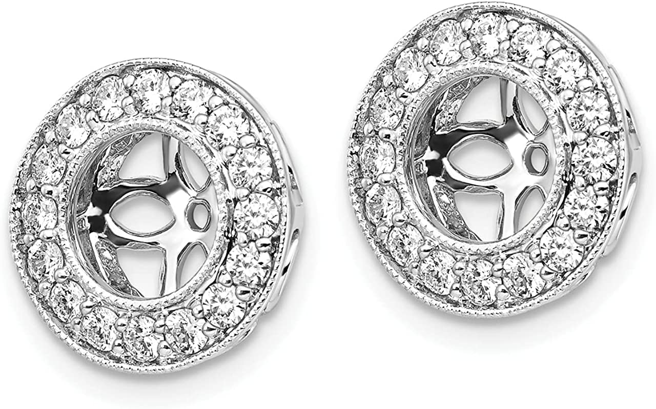 Lex & Lu 14k White Gold True Origin Lab Grown Dia. VS/SI, D E F, Earring Jackets LAL228