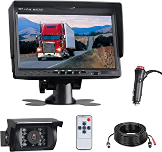 "$68 » Sponsored Ad - Backup Camera System Kit 7"" LCD Reversing Camera Monitor, 18 IR Night Vision IP67 Waterproof Rear View Back..."