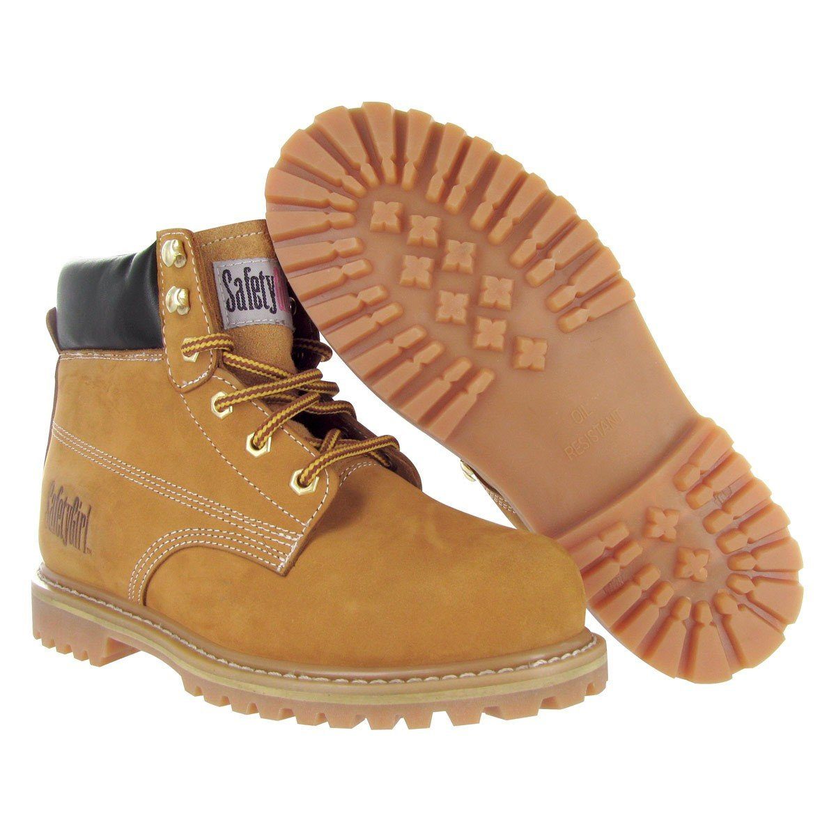 Safety Girl GS003-Tan-7M Steel Toe Work Boots Tan 7M Import - Many popular brands Englis